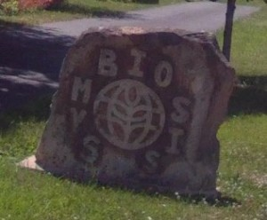 Symbiosis Entry Stone Sign