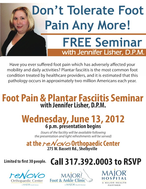Foot Pain &amp; Plantar Fasciitis Seminar