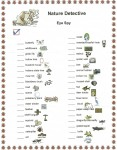 Symbiosis Kids Nature Detective Worksheet