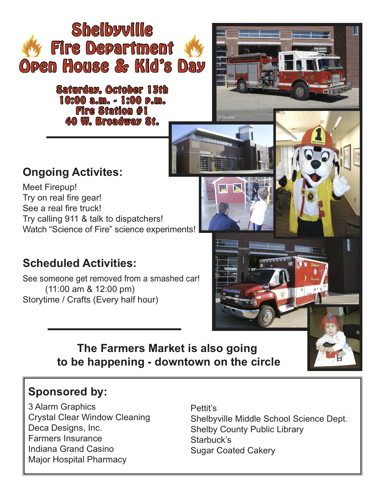 Fire Department Open House flyer 2012