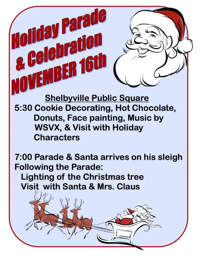 2012 Holiday Parade Flyer