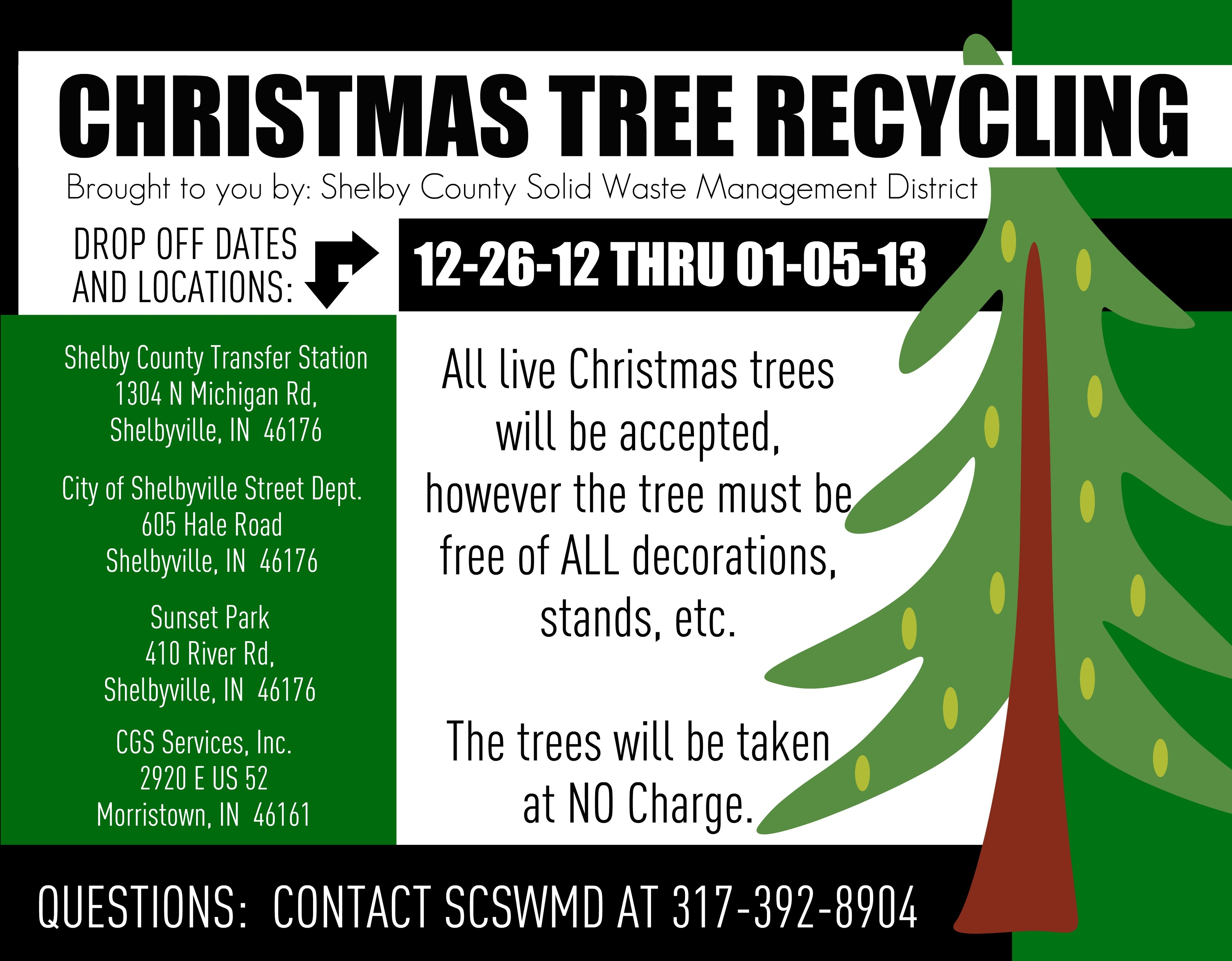 CHRISTMAS TREE RECYCLING 2012
