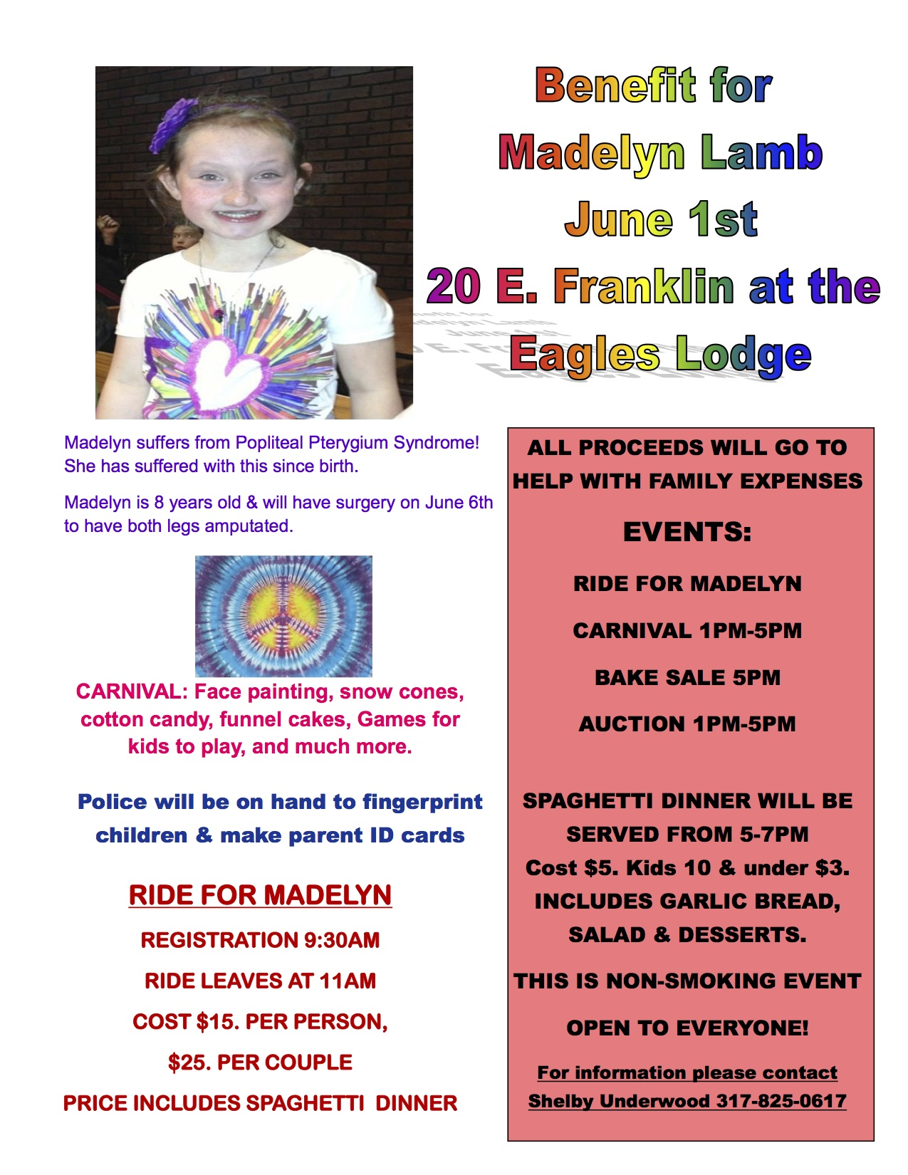 Benefit for Madelyn Lamb  ShelbyvilleToday