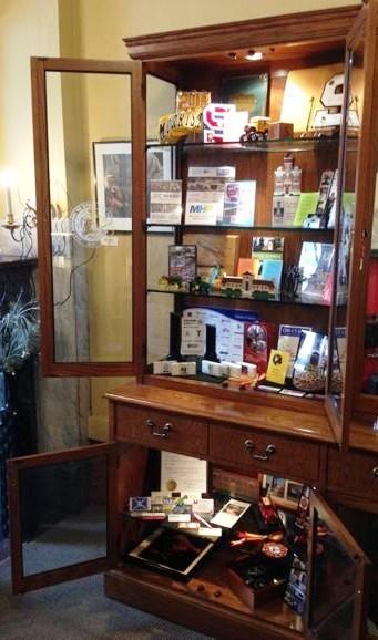 Display of Shelby County Memorabilia
