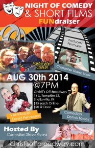 Night of Comedy & Short Films FUNdraiser @ Christi's Off Broadway | Shelbyville | Indiana | United States
