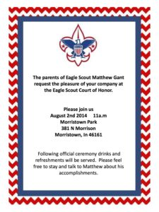 Eagle Scout Court of Honor @ Morrison Park | Morristown | Indiana | United States