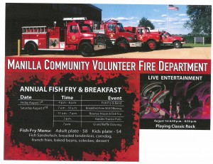 Manilla VFD Fish Fry @ Manilla Volunteer Fire Department | Manilla | Indiana | United States