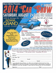 Car Show Benefitting Murat Shrine @ Indiana Grand Racing - Casino | Shelbyville | Indiana | United States