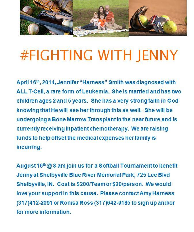 Softball for Jenny @ Blue River Memorial Park | Shelbyville | Indiana | United States
