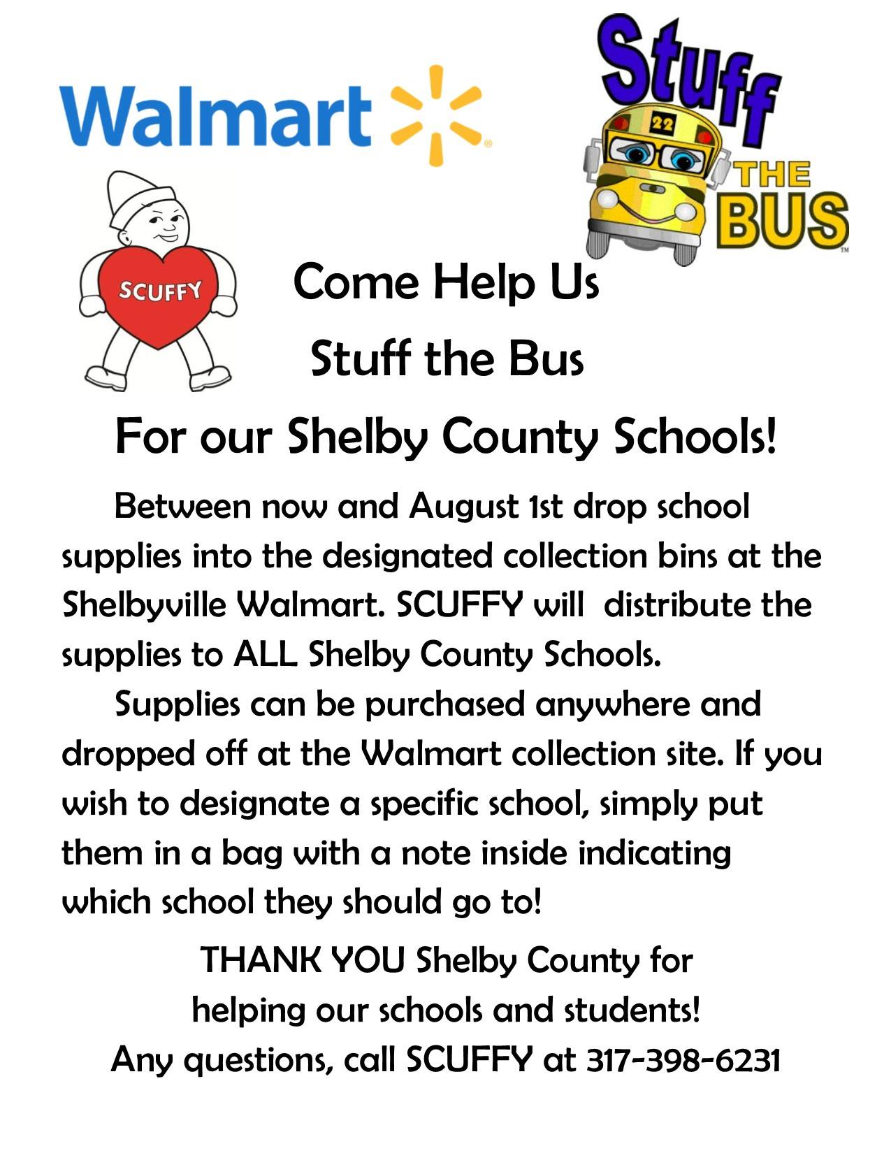 Stuff the Bus for Shelby County Schools
