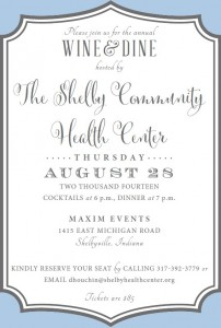 Wine & Dine with the Shelby Community Health Center @ Maxim Events | Shelbyville | Indiana | United States