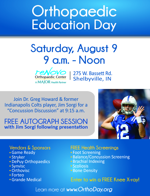 Orthopaedic Education Day @ reNovo Orthopaedic Center | Shelbyville | Indiana | United States