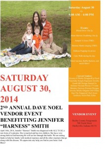 "2nd Annual Dave Noel Vendor Event Benefitting Jennifer ""Harness"" Smith @ Shelby County Fairgrounds 