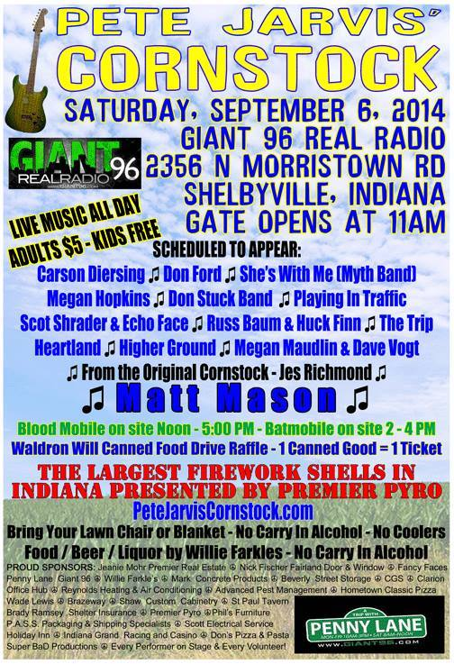 Pete Jarvis' Cornstock @ Giant 96 Radio Station Grounds | Shelbyville | Indiana | United States