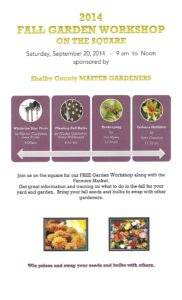 Fall Garden Workshop on the Square @ Downtown Shelbyville at the Farmers Market | Shelbyville | Indiana | United States