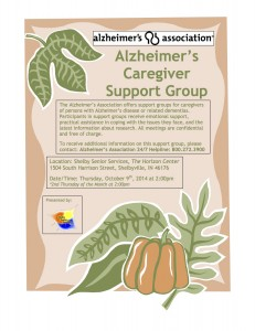 Alzheimer's Caregiver Presented by: Support Group @ The Horizon Center | Shelbyville | Indiana | United States