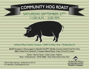 Community Hog Roast @ Ashford Place Health Campus | Shelbyville | Indiana | United States