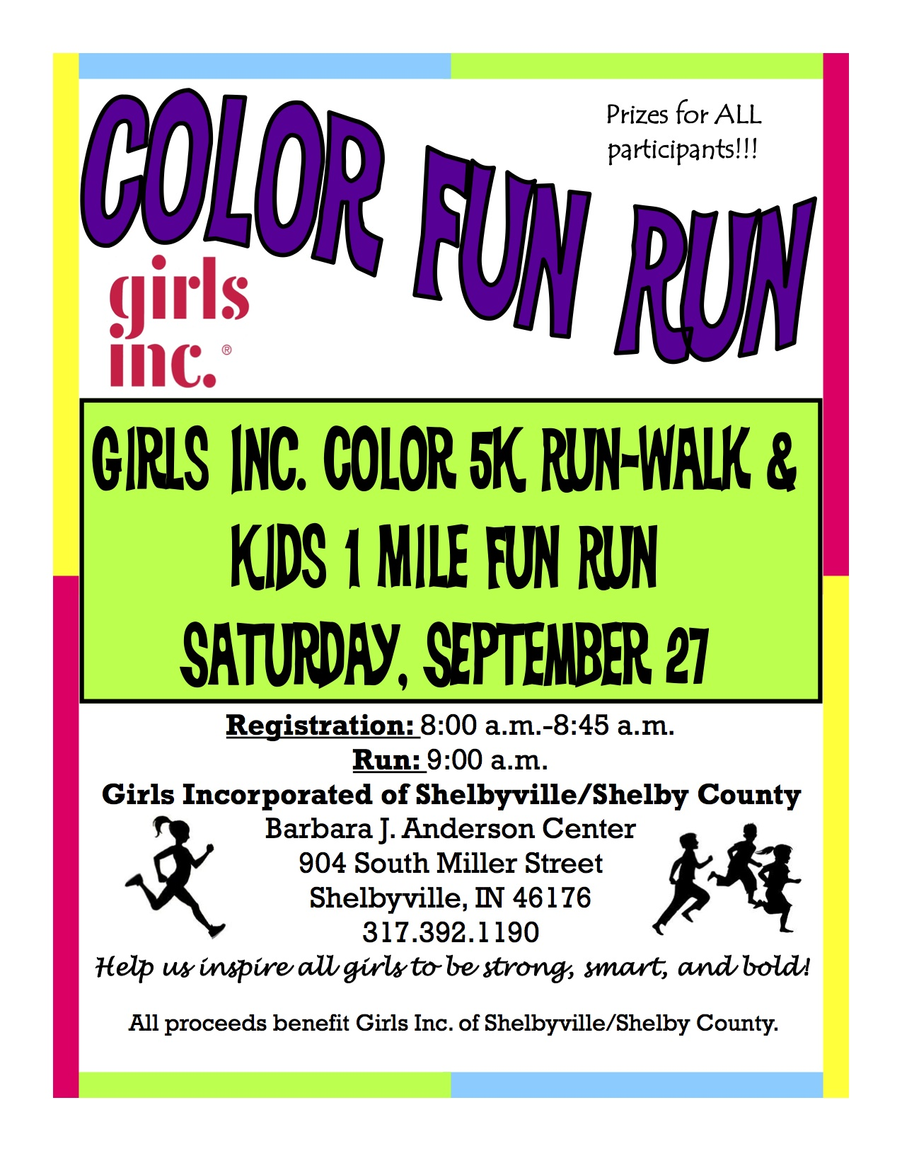Color Fun Run with Girls Inc.   ShelbyvilleToday