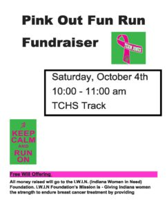 Pink Out Fun Run Fundraiser @ TCHS Track   Fairland   Indiana   United States