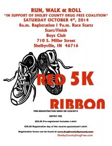 Canceled ** Red Ribbon 5K - RUN, WALK & ROLL @ Boys Club   Shelbyville   Indiana   United States