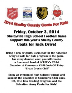 2014 Shelby County Coats for Kids @ J. M. McKeand Stadium | Shelbyville | Indiana | United States