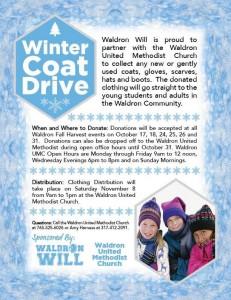 Waldron Winter Coat Drive @ Waldron | Indiana | United States