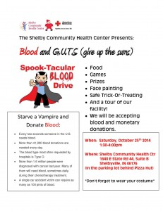 Blood and G.U.T.S. Spook-Tacular Blood Drive @ Shelby Community Health Center | Shelbyville | Indiana | United States