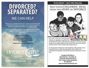 Divorce Care for Adults and/or Kids @ Crossroad Community Church | Shelbyville | Indiana | United States