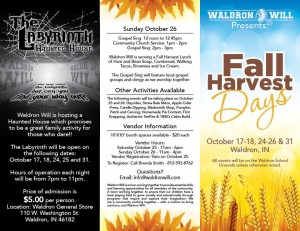 Waldron Fall Harvest Days @ Waldron School Grounds | Waldron | Indiana | United States