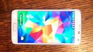 Samsung S5 Front View