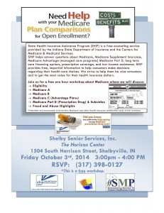 Workshop About Medicare Choices @ The Horizon Center | Shelbyville | Indiana | United States