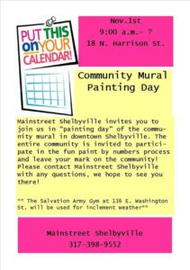 Community Painting Day for Community Mural @ Shelbyville | Indiana | United States