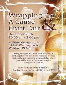 Wrapping for a Cause & Craft Fair @ Waldron General Store | Waldron | Indiana | United States