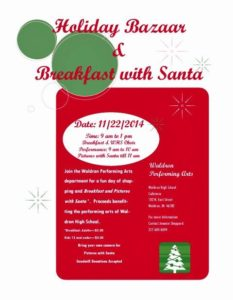 Holiday Bazaar & Breakfast with Santa @ Waldron High School Cafeteria | Waldron | Indiana | United States