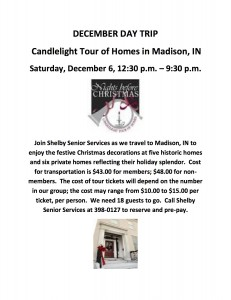 DECEMBER DAY TRIP Candlelight Tour of Homes in Madison, IN
