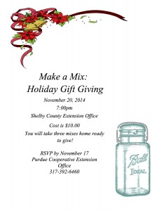 Make a Mix: Holiday Giving @ Shelby County Extension Office | Shelbyville | Indiana | United States
