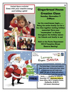Gingerbread House Creation Class @ Parks Department | Shelbyville | Indiana | United States