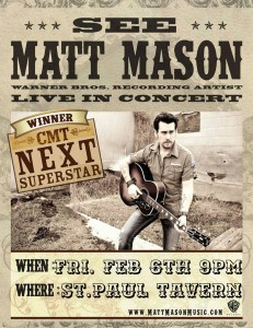 See Matt Mason @ St. Paul Tavern